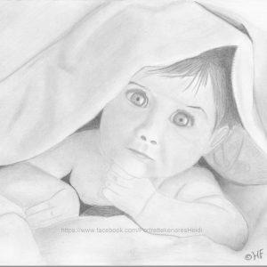 Baby onder dekentje